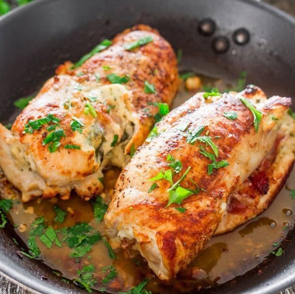 Blog  Cheese and prosciutto stuffed chicken breasts