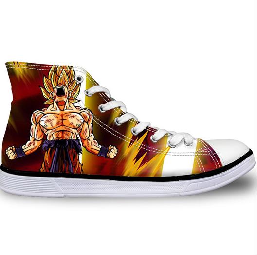 goku super saiyan hand painted shoes