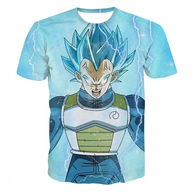Dragon-Ball-Z-T-shirts-Mens-Summer-Fashion-3D-Printing-Super-Saiyan-Son-Goku-Vegeta-Frieza