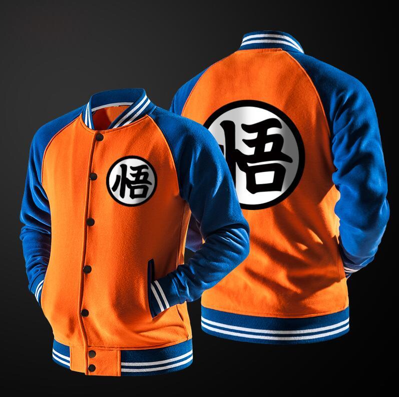 Goku Uniform Symbol Dragon Ball Z Kame Symbol Zip Front Hoodie