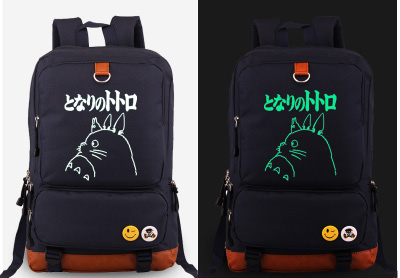 Hot-Japan-Anime-Miyazaki-Hayao-Totoro-cosplay-Backpack-Fashion-Canvas-Student-Luminous-Schoolbag-Unisex-Travel-Bags