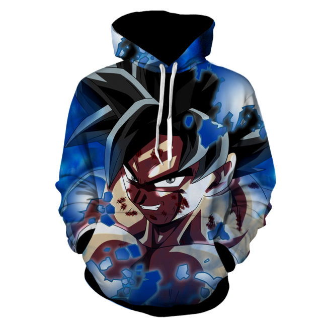 Goku Ultimate Transformation Face Hoodie