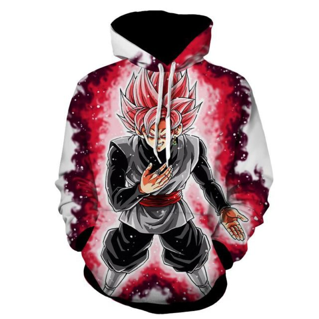 DRAGON BALL Z MENACING SUPER ROSE BLACK GOKU HOODIE