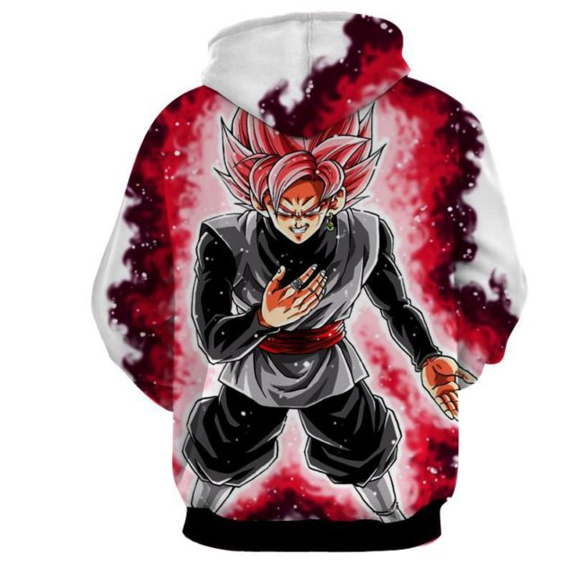DRAGON BALL Z MENACING SUPER ROSE BLACK GOKU HOODIEs