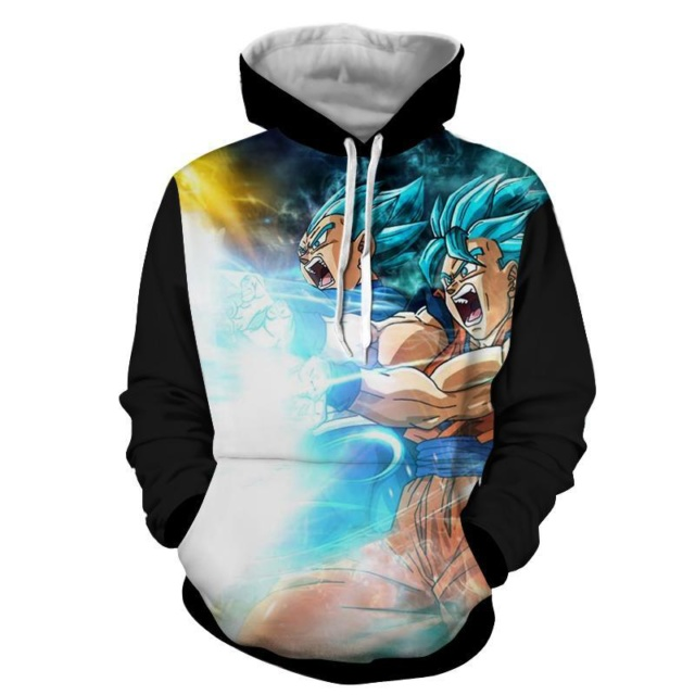 ULTIMATE ATTACK GOKU AND VEGETA 3D HOODIE