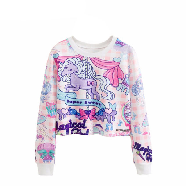 SUPER SWEET UNICORN CROP TOP