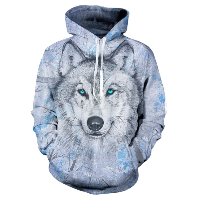 WOLF FACE 3D HOODIE
