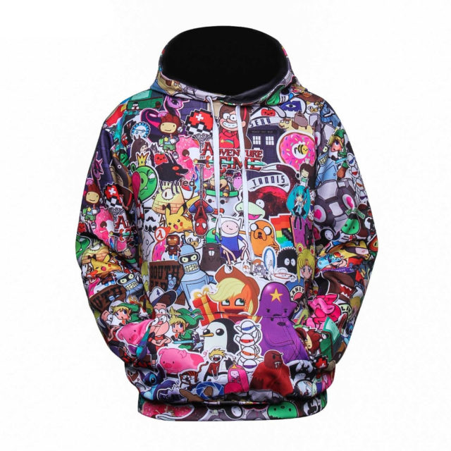 ALL THE ANIME 3D HOODIE