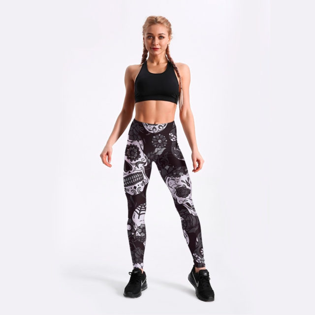 3D SUGAR SKULL LEGGINGS