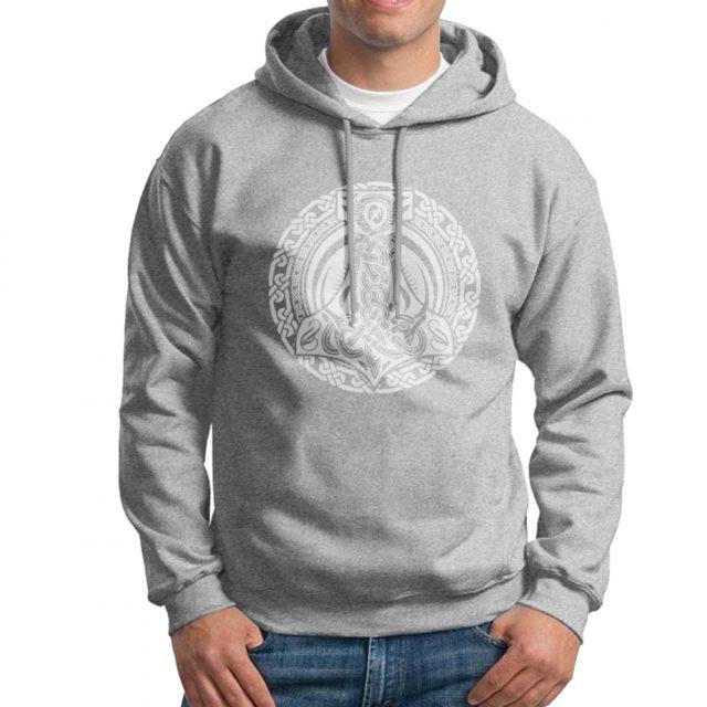 thor norse mythology god hammer hoodie
