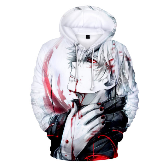 3D TOKYO GHOUL HOODIE anime Tokyo Ghoul 3D Hoodies Sweatshirt boys/girls long sleeve autumn winter warm pullovers high quality popular cool 3D clothes