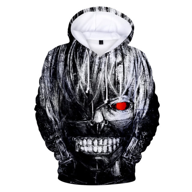 japan Tokyo Ghoul Big Hand 3D Hoodies Men/women Sweatshirts long sleeve autumn hoodie for men popular anime high quality clothes