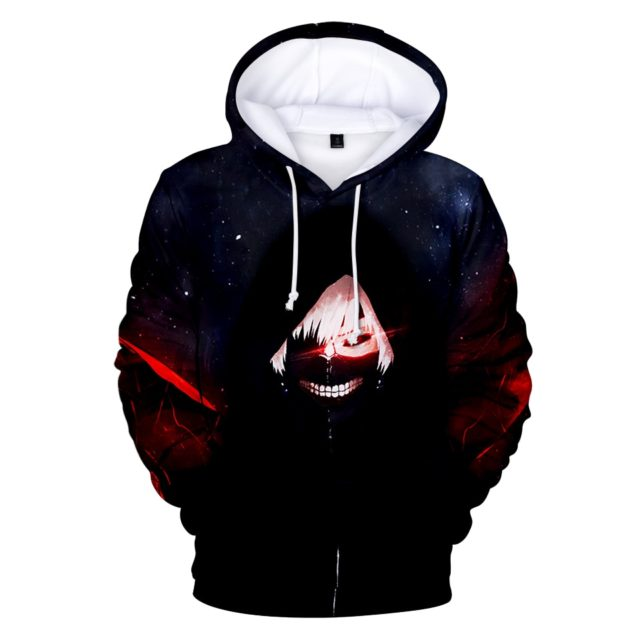 Classic Anime Tokyo Ghoul 3D Print hoodies sweatshirts boys/girls Autumn warm Popular cartoon Tokyo Ghoul Boy's Outwear clothes