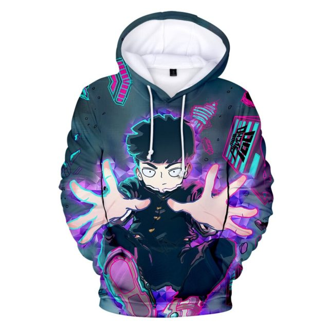 Personality Mob Psycho 100 Hoodies Men/Boys/children Size Sweatshirts High Quality ONE PUNCH-MAN hoodie Autumn Winter Clothing