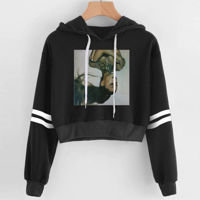 ARIANA GRANDE THEMED CROP TOP HOODIE (29 VARIAN)