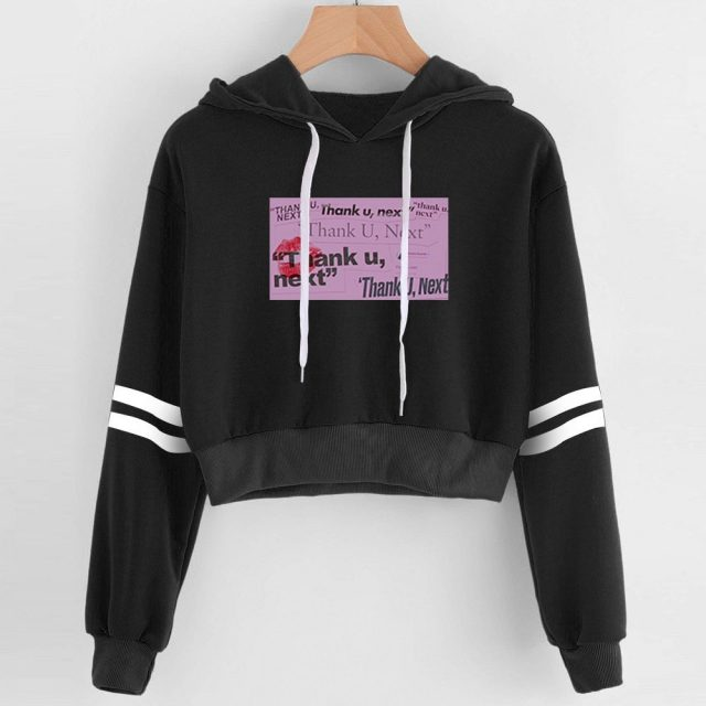 Ariana Grande Women Navel Hoodies Sweatshirt Cool Fashion Kpop sexy Lovely 2019 New Arrival Harajuku Casual Hoodies Sweatshirt