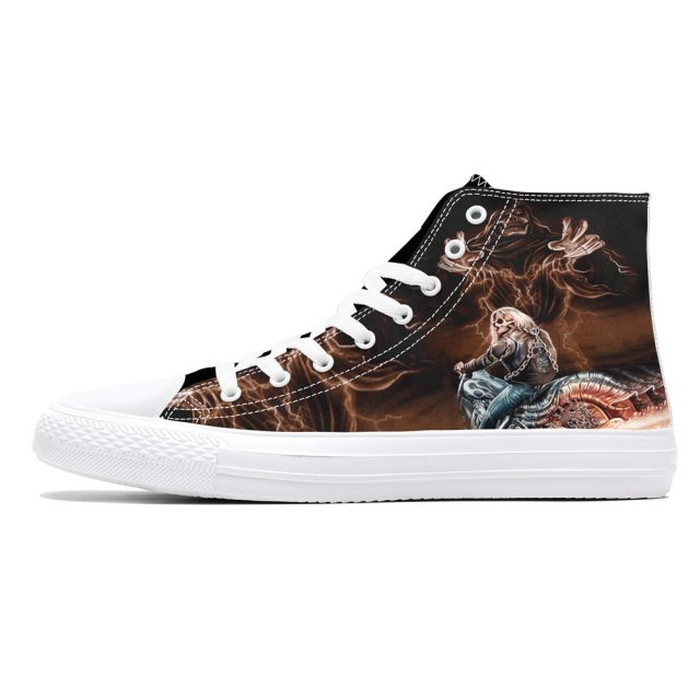 3D SKULL HIGH TOP SHOES (9 VARIAN)