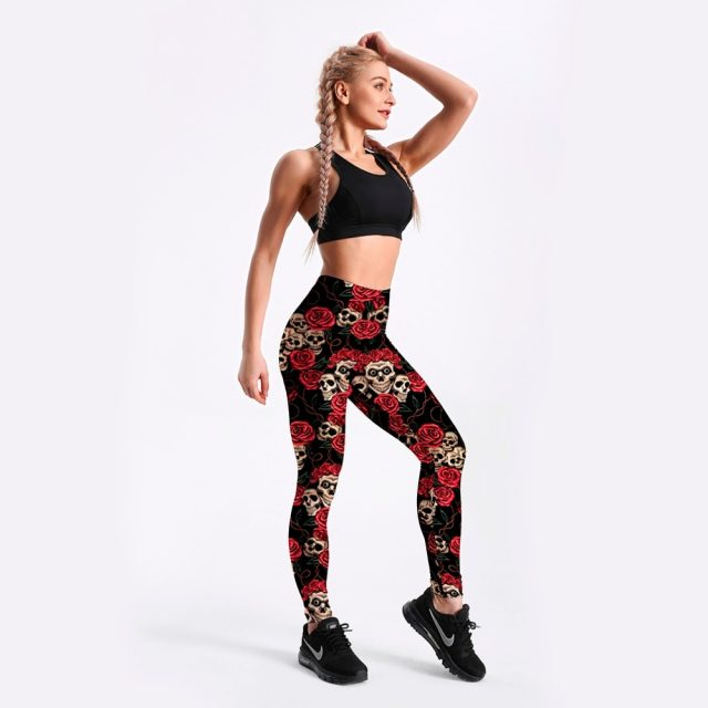 Hot Wholesale Fashion 2013 Womens Pirate Costume Leggins Pants Digital Printing FUNNY SKULLS LEGGINGS