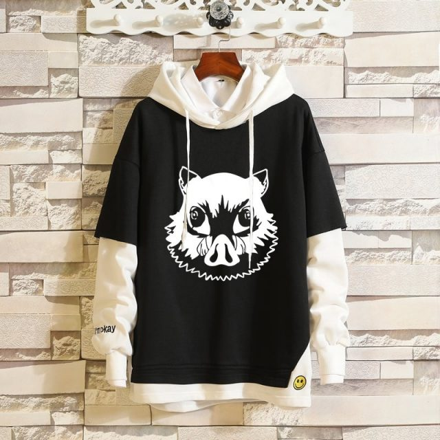 Cotton Anime Demon Slayer: Kimetsu no Yaiba Hoodie Pullover Sportswear Men Women Cosplay Costume Hip-hop Casual Coat Outerwear