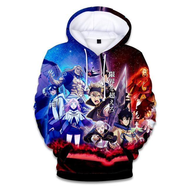 Black Clover 3D Hoodies Men Women Fashion Harajuku Anime Aikooki High Quality Hoodie 3D Print Black Clover Men's Sweatshirt Top